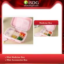 ISDG мини-футляр для лекарств, чехол для таблеток, складной контейнер для хранения лекарств, Дорожный Чехол-держатель, 1 шт