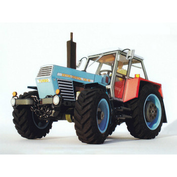 1:32 1:22 Czech Zetor Tractor DIY 3D Paper Model Building Sets Construction DIY Papercraft Educational Toys for Children image