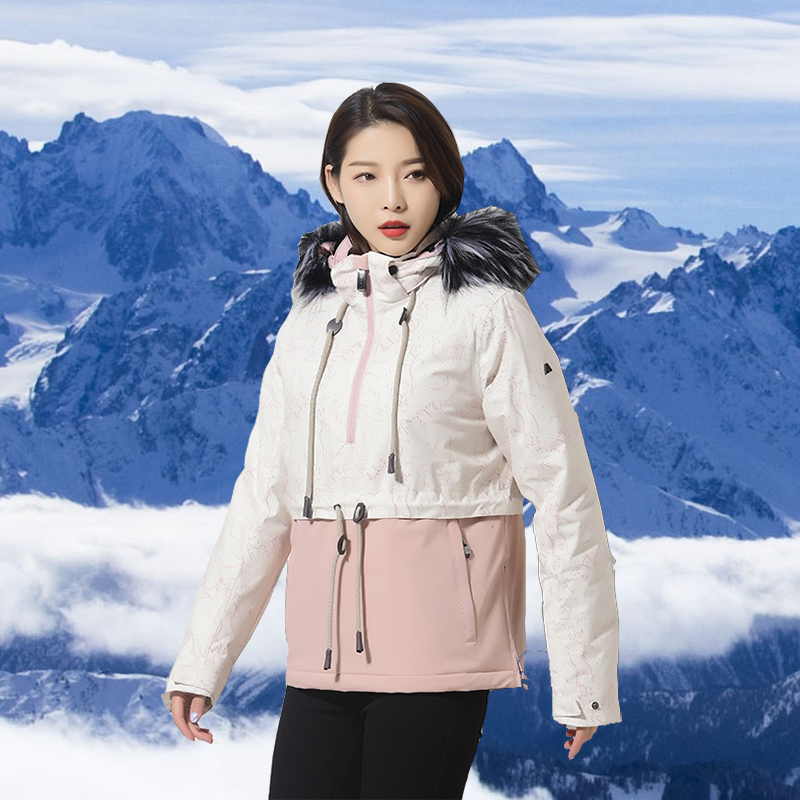 New Thickened Warm Women Ski Jacket/Suit Waterproof and Windproof Fashion Snowboarding/Mountaineering/Sports/Coat Outdoor Wear