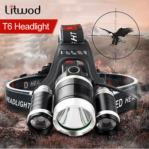 Headlamp 90 degree high Led lighting Head Lamp 4 mode XML T6/R5 LED Headlamp Headlight Camping Fishing headlight Torch Lanterna(China)