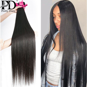 Brazilian Hair Weave Bundles Straight 100% Human Hair 28 30 32 Inch 1 3 4 Long Hair Bundles Natural Color Remy Hair Extension