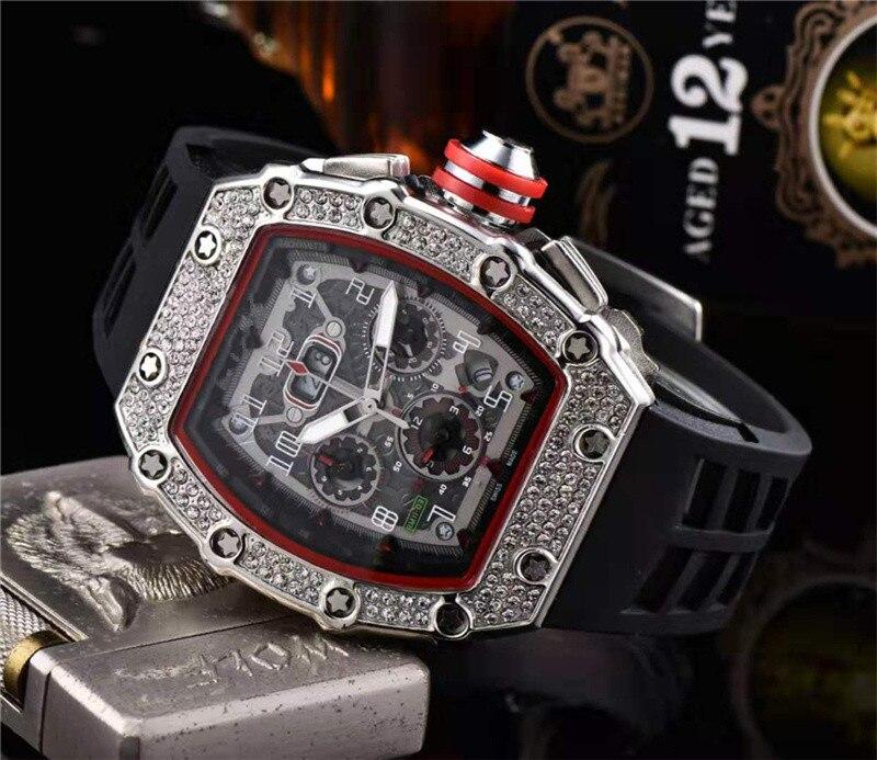 Cadeau diamant DZ digite homme montre Rlo dz Auto Date semaine affichage lumineux plongeur montres acier inoxydable poignet homme mâle horloge