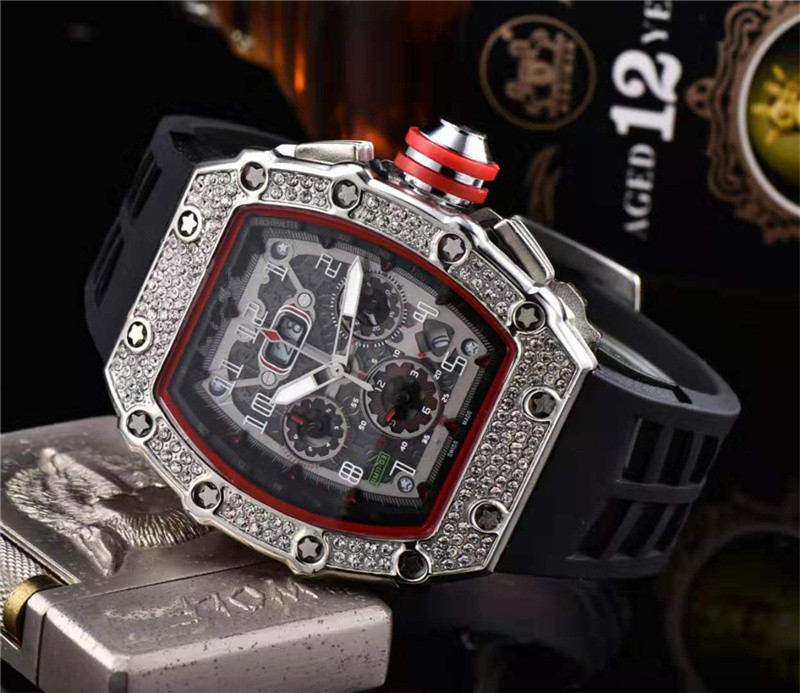 Gift Diamond DZ   Digite Man Watch Rlo Dz Auto Date Week Display Luminous Diver Watches Stainless Steel Wrist Man  Male Clock