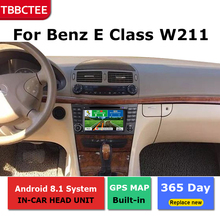 2 Din Android radio bluetooth GPS Navigation wifi Stereo video For Mercedes Benz E Class W211 2002~2009  Car Multimedia Player liislee for mercedes benz e class mb w211 2002 2009 car multimedia tv dvd gps radio carplay original style navigation navi