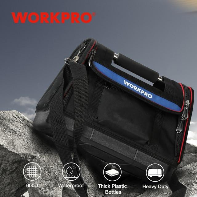 Сумка для инструментов WORKPRO, органайзер, набор инструментов, наплечная складная сумка из 600D полиэстера, не Складная