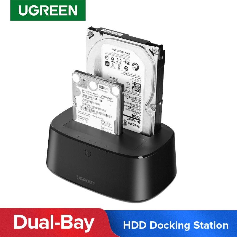 Ugreen HDD Station d'accueil SATA vers USB 3.0 adaptateur pour 2.5 3.5 SSD boîtier de disque HD Box Dock boîtier de disque dur Station d'accueil