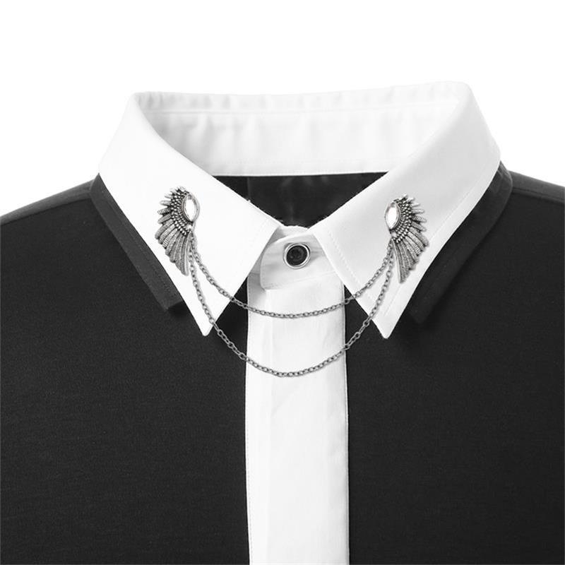 Fashion Vintage Men's Brooches Angel Wings Deer Wolf Cat Animal Brooch Pins Men And Women Skull Brooch Shirt Collar Pin Brooch