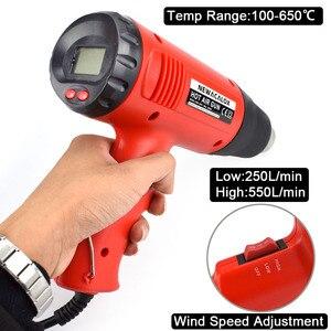 Image 2 - NEWACALOX chauffe eau thermique 2000W, 220V, prise ue, pour pistolets à Air chaud électriques industriels, régulateur à écran LCD, rétrécissement