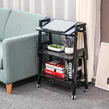 Table-Corner Removable Sofa Coffee-Table Adjustable Small with Wheels Retro Lazy Several