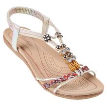 Letnie damskie japonki płaskie 2021 nowości odkryte klapki plażowe damskie sandały tanie tanio youe shone SYNTETYCZNE CN (pochodzenie) Niska (1 cm-3 cm) Na co dzień Nowoczesne sandały Płaskie z Otwarta elastyczna opaska