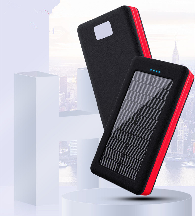 Solar Power Bank Waterproof 30000mAh Solar Charger 4 USB Ports External Charger Powerbank for  iphone 11 pro max samsung s8 s10