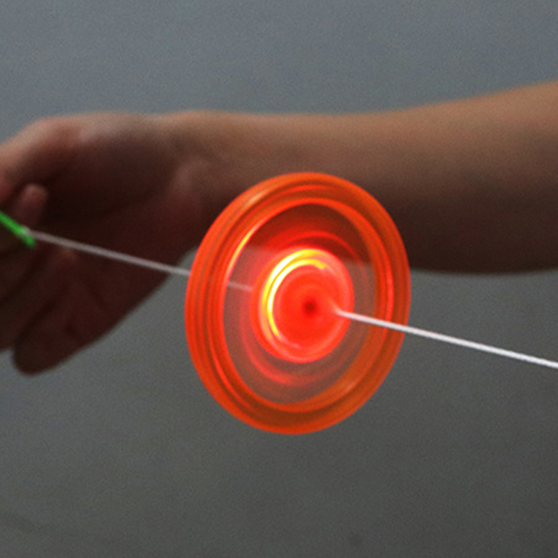 1pc Flash Pull Line Led Flywheel Hot Fire Wheel Glow Flywheel Whistle Creative Classic Toys For Children Gift