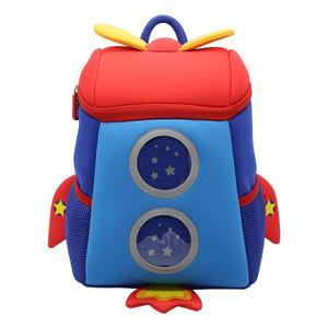 Image 5 - Anti lost 3D Cartoon Rocket Children Backpack Kids Girls Boys School Bags Neoprene Toddler Baby Kindergarten Bag Space Capsule