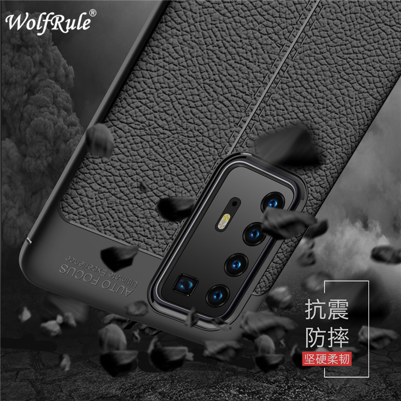 Case For Huawei P40 Pro Phone Cover Shockproof Luxury Leather Soft TPU Case For Huawei P40 Pro Case For Huawei P40 Pro