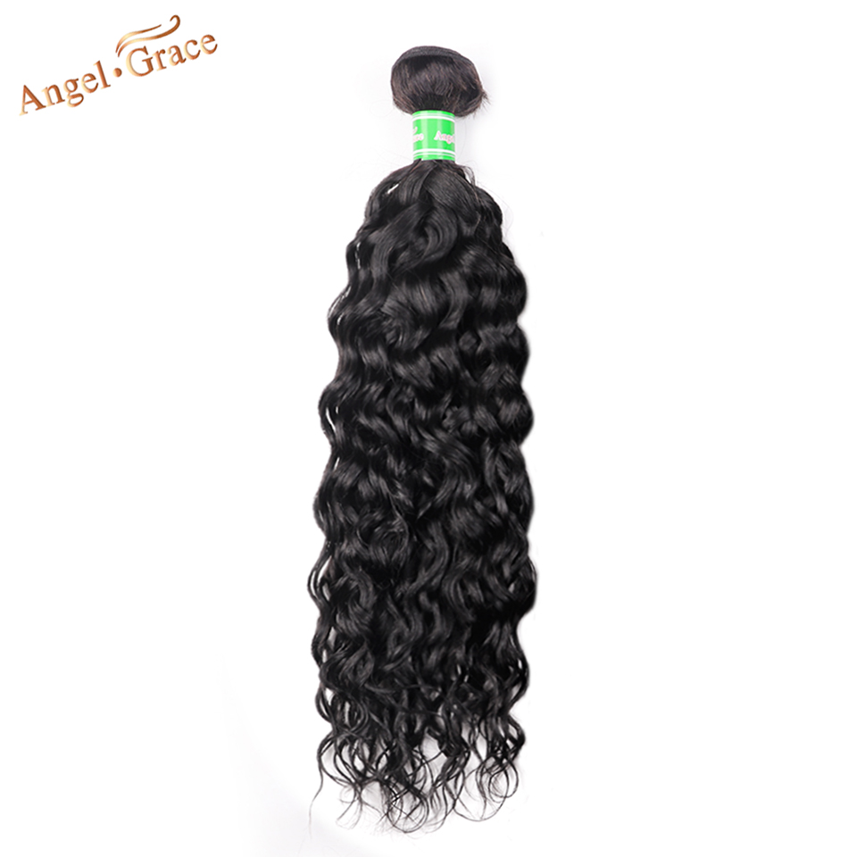 Angel Grace Hair Peruvian Water Wave Bundles 1/3/4 Pcs Lot Remy Hair Weaving Bundles 100% Human Hair Extension 8-28 Inches