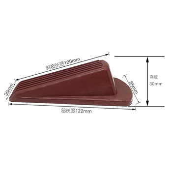10pcs Door Stopper Chock Wedge Stopper Household Safety Carmen Top Device Creative Anti-collision And Windproof Rubber Wholesale