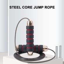 Corde à sauter de vitesse sans embrouillement avec roulements poignée en mousse de longueur réglable pour l'entraînement de vitesse