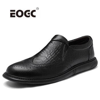 цена Full Grain Leather Oxford Shoes Men Handmade Formal Business Wedding Dress Shoes Plus Size Outdoor Men Flats Shoes онлайн в 2017 году