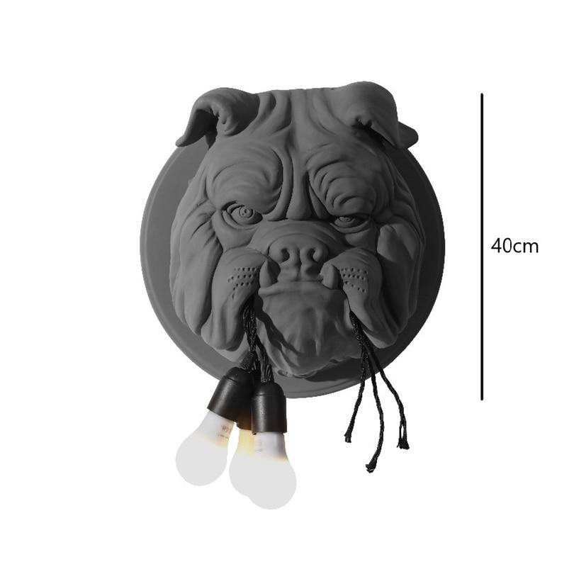 Dier Hond Wandlamp Woonkamer Decoratie Gang Gepersonaliseerde Home Decor Verlichting Designer Ktv Bulldog Wandlampen voor Thuis - 4