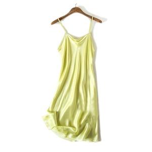 Image 5 - Silk SLEEP Dress REAL SILK women sleepwear healthy home dress Slips SALE 2019 Spring Summer new Black RED PINK
