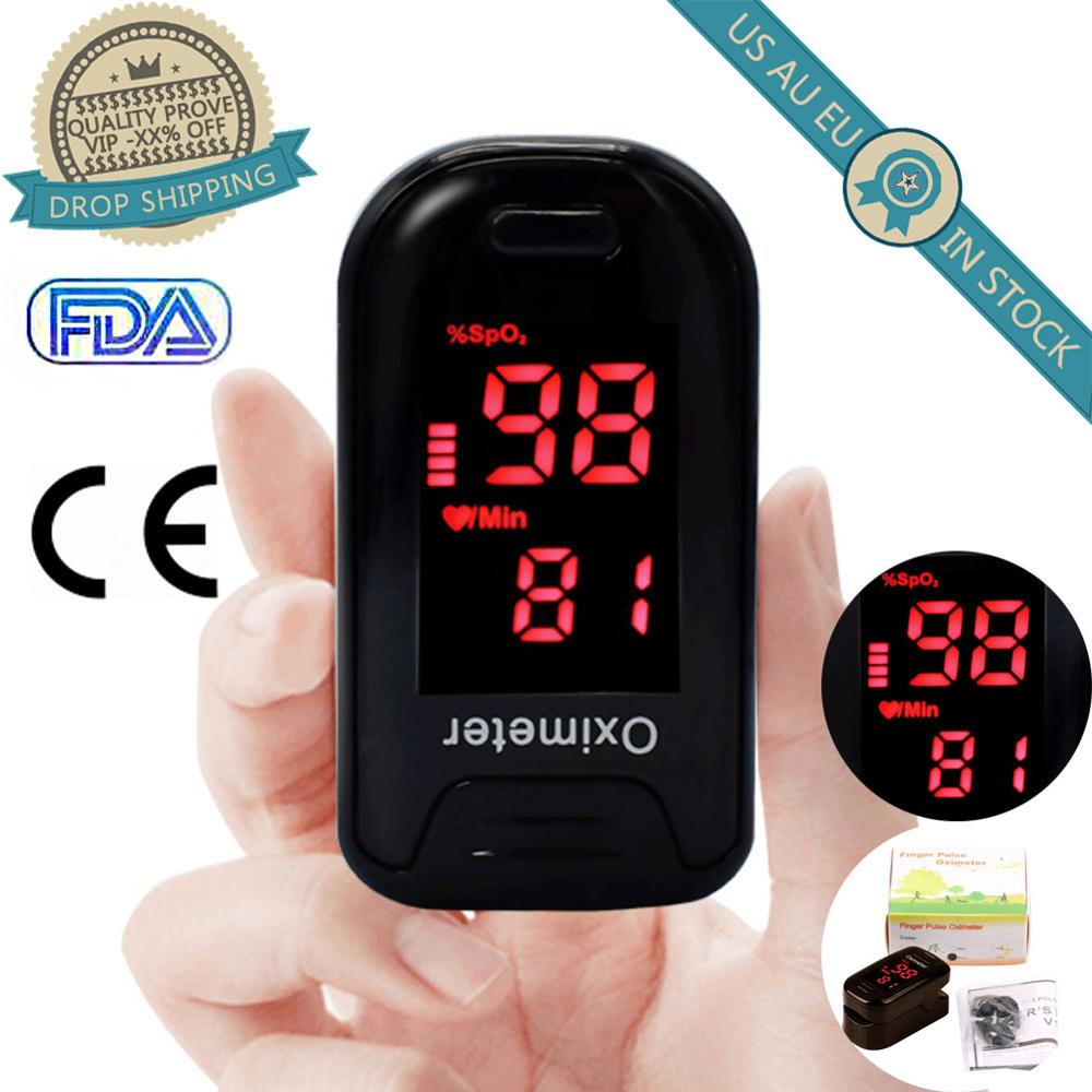 LED Finger Blood Pulse Oxygen Meter Home Tool Oximetry Saturation Blood Oximeter Blood Pressure Meter  Household Health Monitors