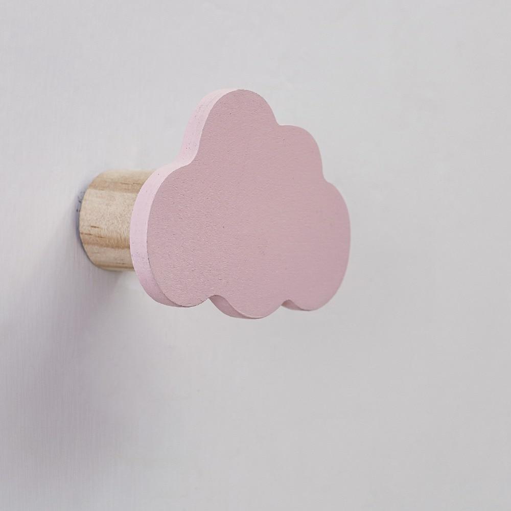 1PC Popular Rabbit/Cloud Wall-mounted Hooks DIY Wooden Hanger Wall Decoration Kids Room Supplies Door Hook Bathroom Accessories