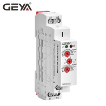GEYA GRV8-02 Voltage Protection Relay Over-voltage and Under-voltage Protection AC220V DC12V DC48V Relay Control Voltage control and protection in low voltage distribution grid