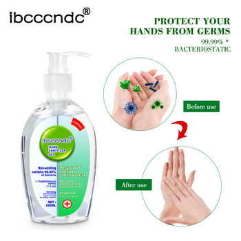 200ml High Cpacity Anti-Bacteria Hand Sanitizer Gel No Clean Hand Gel Waterless Sanitizer Handgel Disposable for Kids Adult