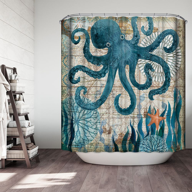 Bathroom Foot Pad Octopus Bath Mat