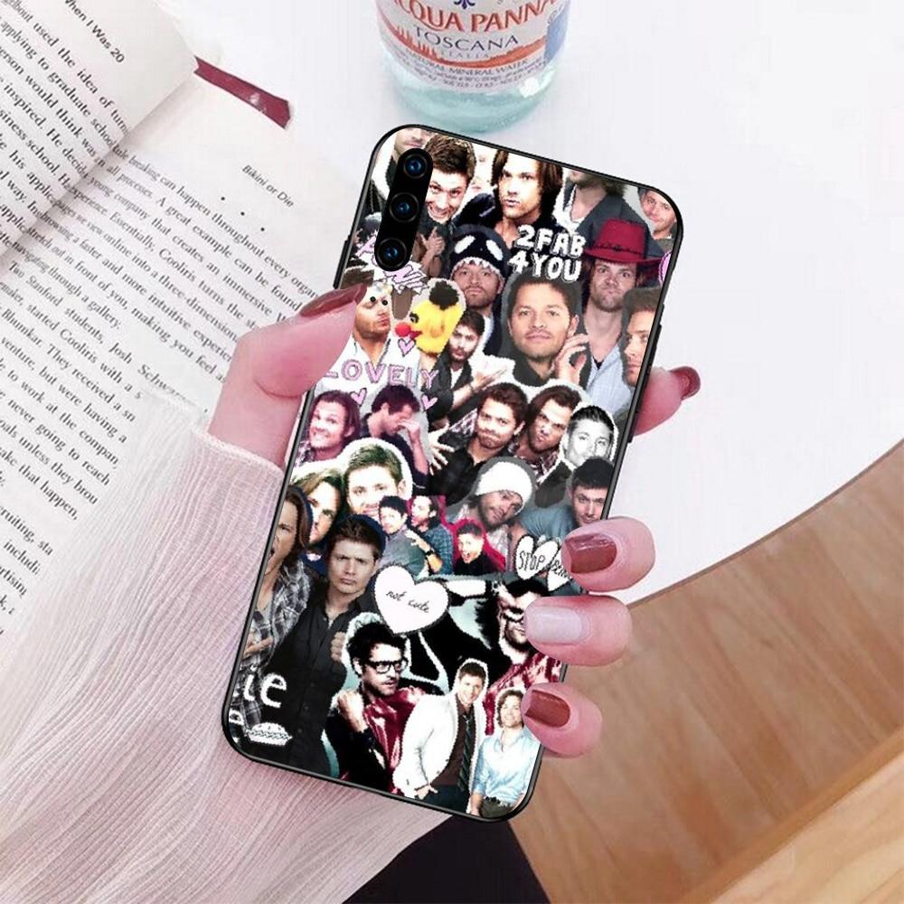 NBDRUICAI odcinek nie z tego świata jareda padaleckiego miękkie czarny telefon skrzynka dla Huawei Honor 10 9 8 8x 8c 9x 7c 7a Nova 3 3i Lite Y9 Y7 Y6