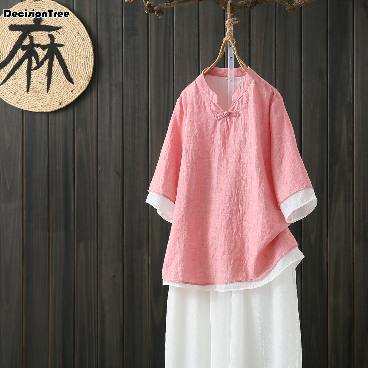 2020 female tang suit women chinese tops cheongsam vintage cheongsams traditional loose hanfu china clothing female lady image