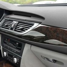 30*100CM pegatina textura de cuero negro Auto Interior Trim Film Durable