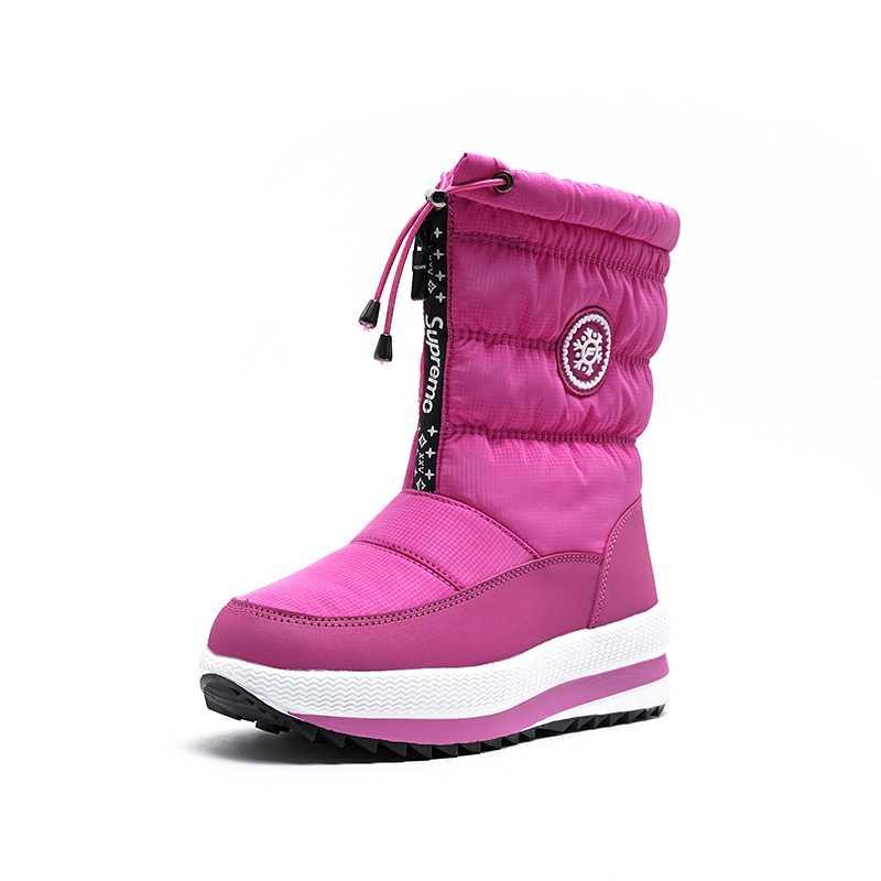 REAVE KEDI rahat kar yarım çizmeler takozlar topuklu kadın platformu botları su geçirmez aşağı kumaş kış sıcak kalın kürk botas mujer 41
