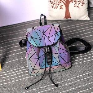 Image 2 - DIOMO Small Backpack Women Holographic Sequin Female Backpacks for Teenage Girls Bagpack Drawstring Bag Designer Korean Style
