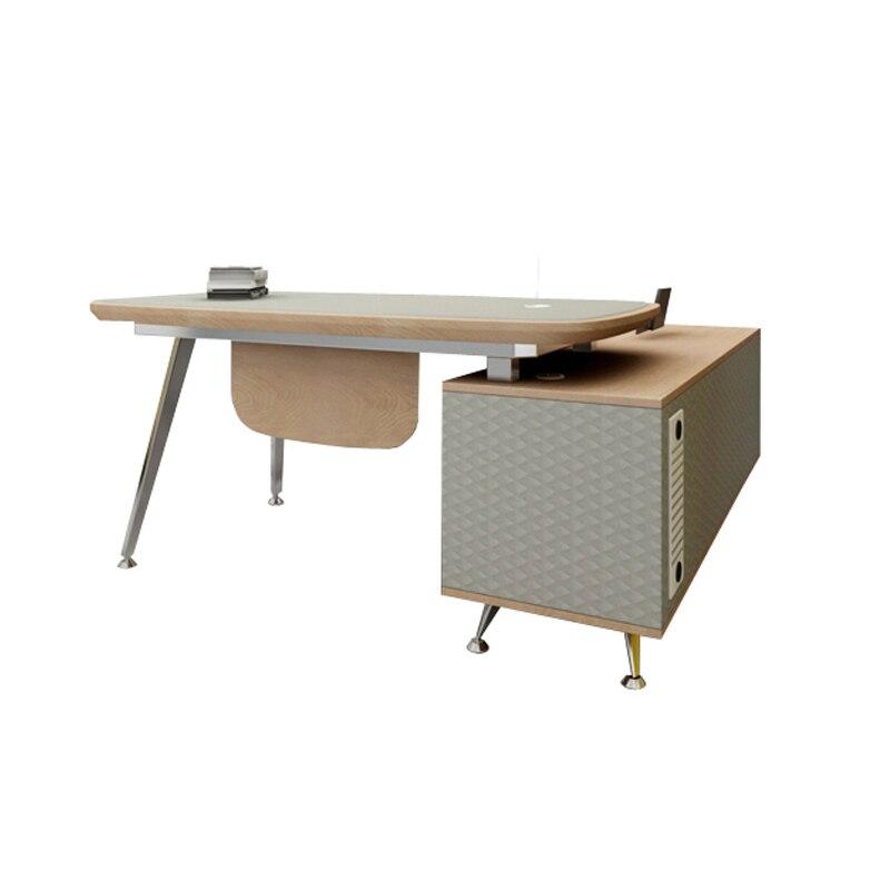 modern elegant furniture design home study table wood leather small grey little work laptop desk writing study table desk set