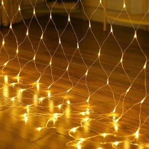 Image 2 - Luces de red LED para exteriores, 6x4M, 3x2M, 1,5x1,5 M, luz de árbol de Navidad feérico, luz de red de pesca, Decoración Para Boda o fiesta