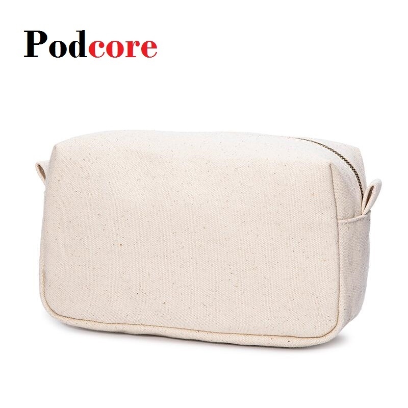 Canvas Cosmetic Bag Makeup Inner Toiletry Handbag , 22*12*10cm, 2 Colors