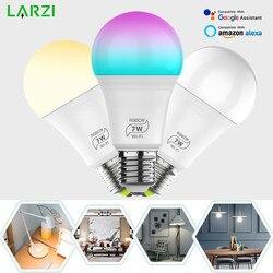 Умный светильник, лампа 7 Вт 9 Вт, изменяющий цвет, wifi, оттенок, светильник E27 RGB, светодиодная лампа с регулируемой яркостью, Alexa, совместимое п...