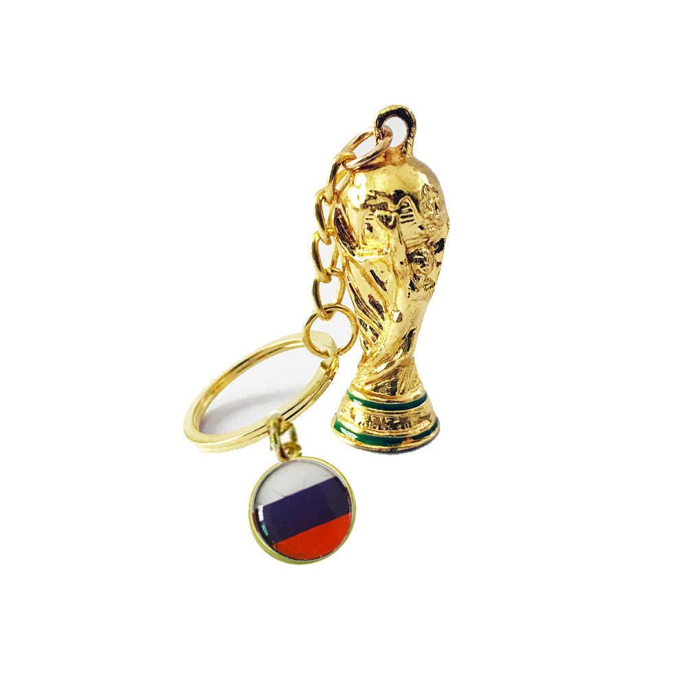 Coppa del mondo 2019 di Calcio Ventole articoli Bandiera Nazionale Trofeo Keychain Del Pendente souvenir Sportivi di Calcio di gioco della palla Anello chiave del regalo