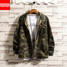 Military Camouflage Cotton Jacket Coat Men Autumn Preppy Style Streetwear Casual Jackets Fashion Army Hip Hop Oversize Male Tops