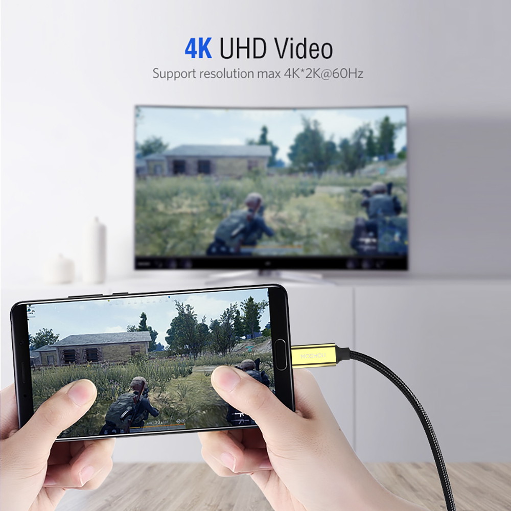 4K 60Hz USB C HDMI кабель Тип C к HDMI для MacBook Huawei Mate 30 40 Pro USB-C HDMI Thunderbolt 3 конвертер адаптер