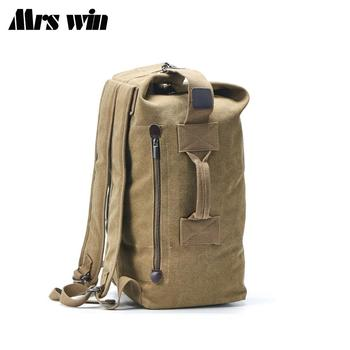 2020 New Large Capacity Rucksack Man Travel Bag Mountaineering Backpack Male Luggage Canvas Bucket Shoulder Bags Men Backpacks brand new women backpack large capacity computer bag fashion black bags high quality travel rucksack backpacks