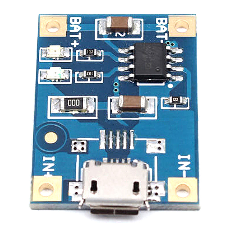 10pcs/Set TP4056 Advanced Chip Micro USB Battery Charger Module Board 5V 1A 18650 Lithium Battery Charging Board
