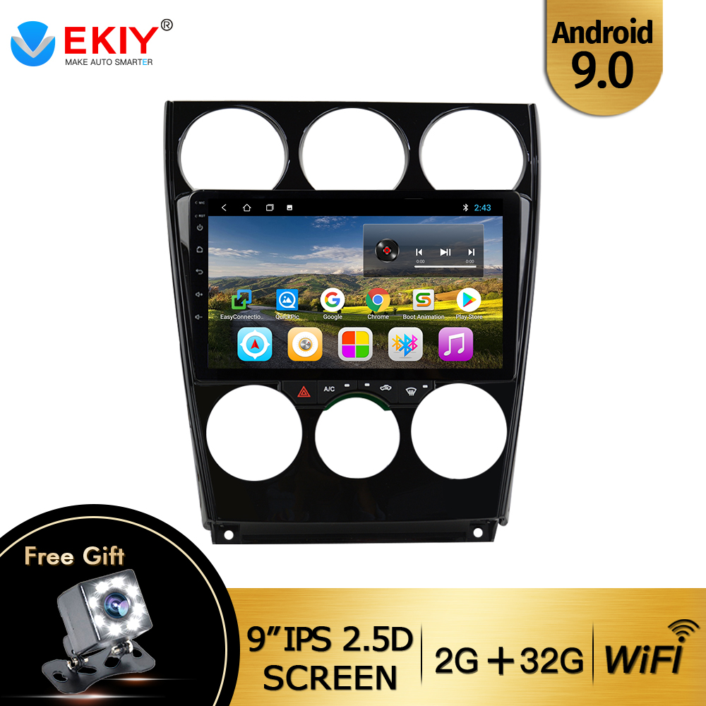 EKIY 9'' IPS Android 9.0 Car Multimedia Dvd Radio Player For <font><b>Mazda</b></font> <font><b>6</b></font> 2004-2014 Car Dvd Gps Navigation Auto Radio Stereo Player image