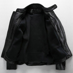 Image 3 - Free shipping.plus size classic men cow leather Jackets,mens genuine Leather biker jacket.Brand motor leather coat