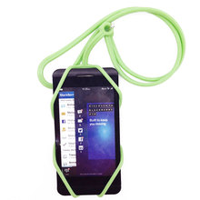 Portable Universal Silicone Mobile Phone Strap Holder Case Neck Necklace Sling For Smartphone