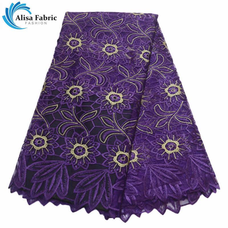 옐로우 컬러 아프리카 메쉬 레이스 원단 고품질의 나이지리아 레이스와 돌 프랑스 그물 레이스 원단 5 야드/pc 파티 드레스