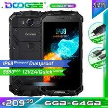 Doogee s60 telefone áspero ip68 waterpoof dustproof telefone celular nfc 5580mah 6gb 64gb helio p25 octa núcleo smartphone
