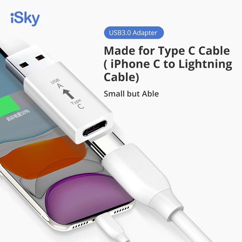 ISky USB Type C OTG Adapter USB C Female To USB A Male Cable Converter USB To Type-C OTG