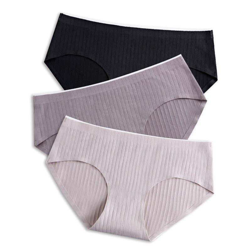 Fashion Seamless Panties For Women Briefs Set Ultra-thin Underwear Cotton Underpants XXL 3pcs/lot Drop Shipping #D